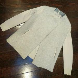 LOFT Structured Wool Open Sweater